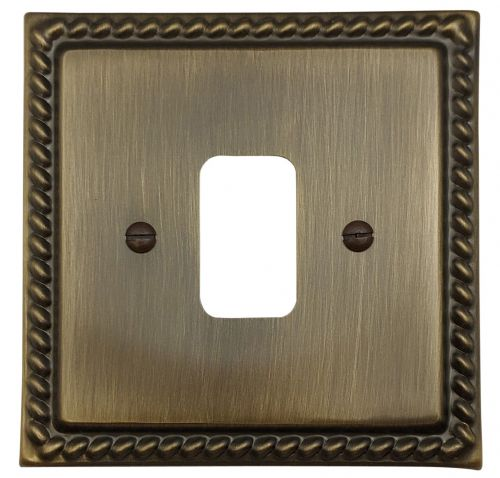 G&H MAB91 Monarch Roped Antique Bronze 1 Gang MK Compatible Grid Plate